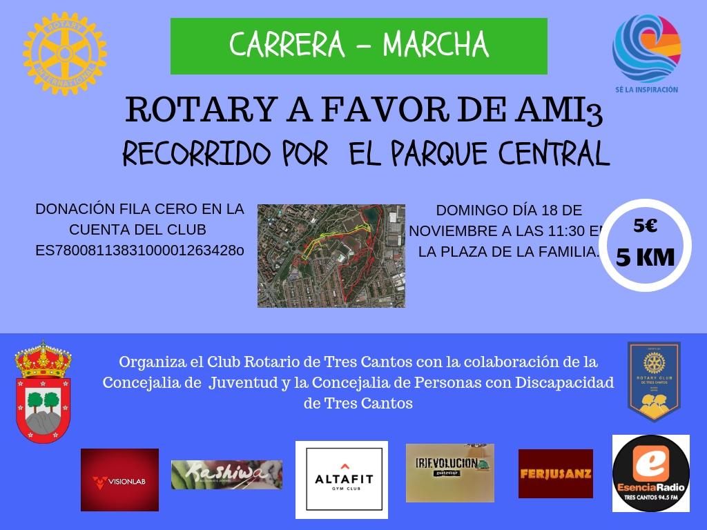 V Carrera solidaria organizada por el Club Rotario de Tres Cantos